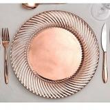 aluguel de sousplat de cristal para jantar de noivado Lapa