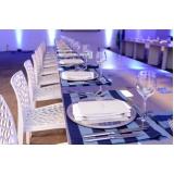 aluguel de utensílios para mesa de jantar noivado Serra da Cantareira