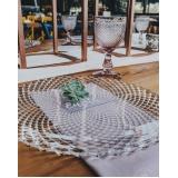 locação de sousplat de cristal para jantar Parque São Rafael