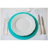 sousplat de aço para mesa pronta Conjunto Residencial Butantã
