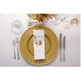 sousplat em cristal para jantar clássico preço Carapicuíba