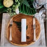 sousplat para jantar de aniversário rústico Jaguaré