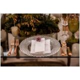 utensílios de mesa para jantar de casamento Vila Romana