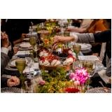 utensílios de mesa para jantar de casamento