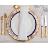 utensílios decorativos para mesa de jantar romântico preço Sacomã