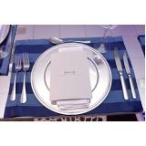utensílios para mesa de jantar noivado Pompéia